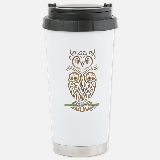 Tribal Owl Travel Mug