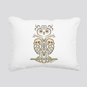 Tribal Owl Rectangular Canvas Pillow