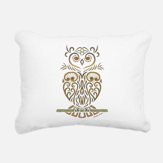 Tribal Owl Rectangular Canvas Pillow