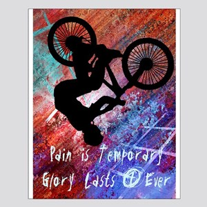 BMX Rusty Grunge Pain is Temporary Posters