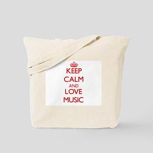 Keep calm and love Music Tote Bag
