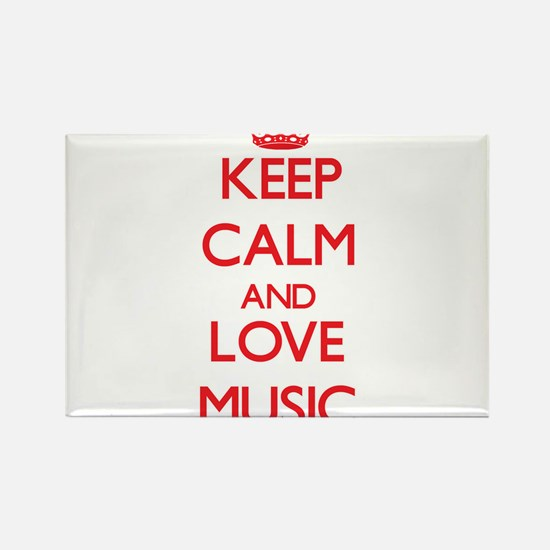 Keep calm and love Music Magnets