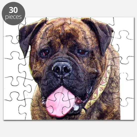 Brindle Bullmastiff Head Puzzle