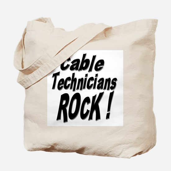 Cable Techs Rock ! Tote Bag