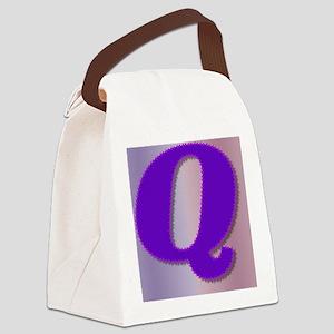 Purple Q Monogram Canvas Lunch Bag