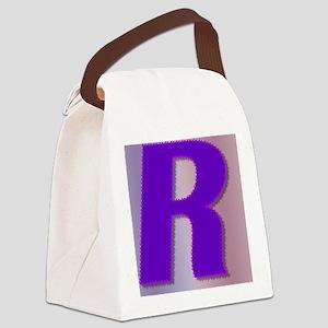 Purple R Monogram Canvas Lunch Bag