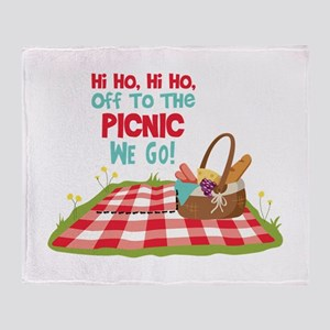 Hi Ho,Hi Ho, Off To The Picnic We Go! Throw Blanke
