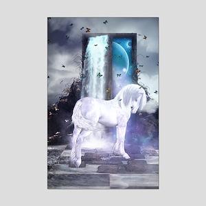 Silver Unicorn Mini Poster Print