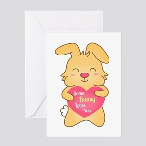 Some bunny loves you, cute humor Greeting Cards