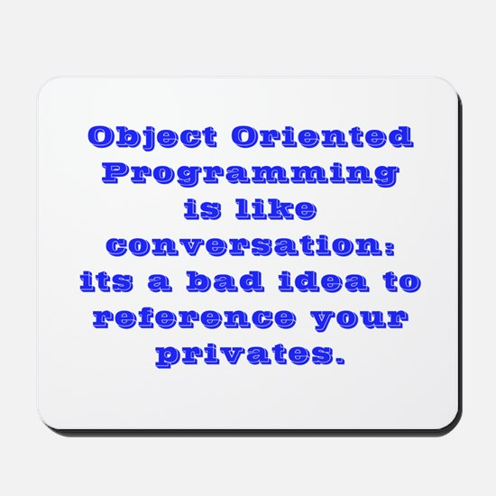 Obejct Oriented Programming Mousepad