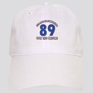 89 year old birthday designs Cap
