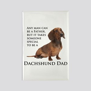 Dachshund Dad Rectangle Magnet