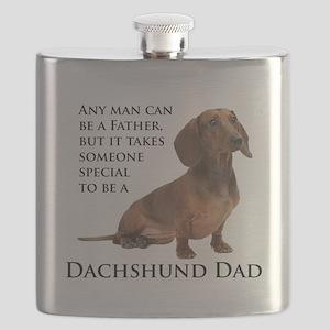 Dachshund Dad Flask