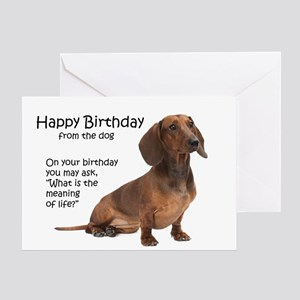 Dachshund greeting cards cafepress funny dachshund birthday cards m4hsunfo