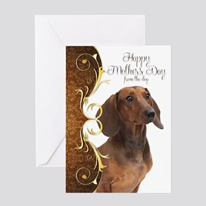 Dachshund Mothers Day Cards