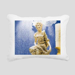 Art Nouveau Statue Rectangular Canvas Pillow