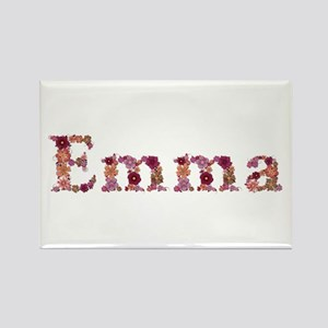 Emma Pink Flowers Rectangle Magnet