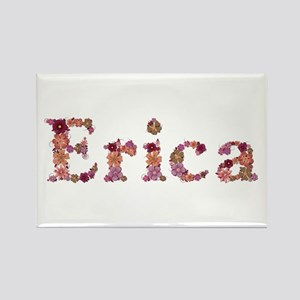 Erica Pink Flowers Rectangle Magnet