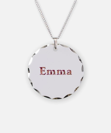 Emma Pink Flowers Necklace
