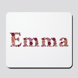 Emma Pink Flowers Mousepad