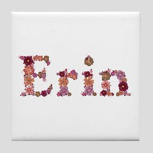 Erin Pink Flowers Tile Coaster