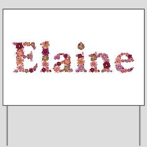 Elaine Pink Flowers Yard Sign