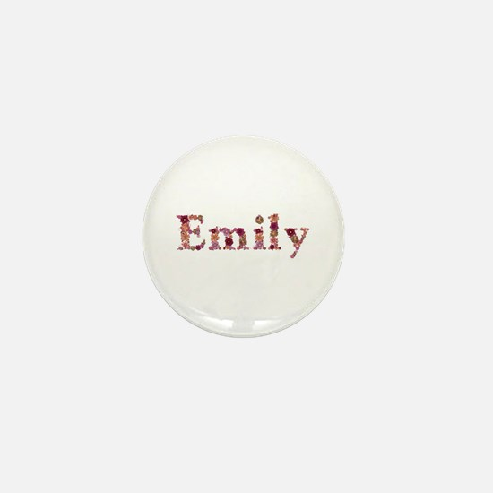Emily Pink Flowers Mini Button