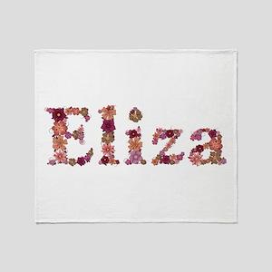 Eliza Pink Flowers Throw Blanket