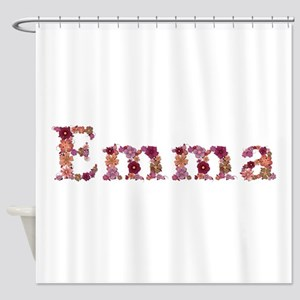 Emma Pink Flowers Shower Curtain