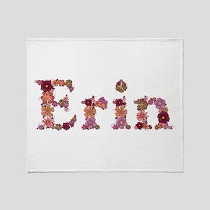 Erin Pink Flowers Throw Blanket