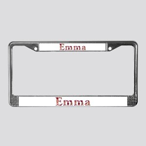 Emma Pink Flowers License Plate Frame