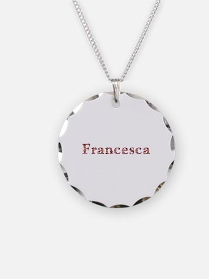 Francesca Pink Flowers Necklace