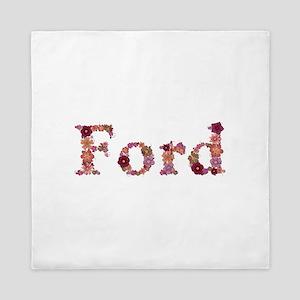 Ford Pink Flowers Queen Duvet