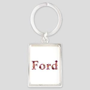 Ford Pink Flowers Portrait Keychain