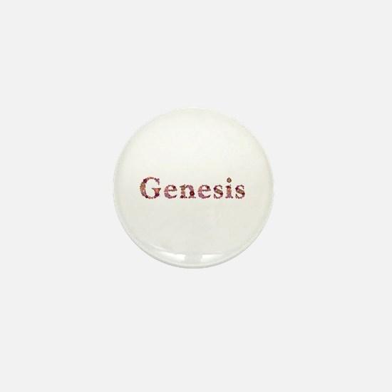 Genesis Pink Flowers Mini Button