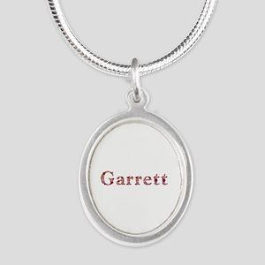 Garrett Pink Flowers Silver Oval Necklace