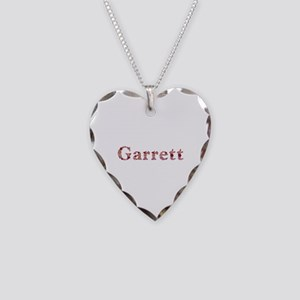 Garrett Pink Flowers Heart Necklace