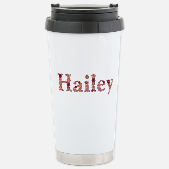Hailey Pink Flowers Stainless Steel Travel Mug