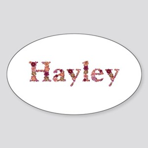 Hayley Pink Flowers Oval Sticker