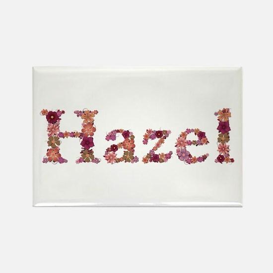 Hazel Pink Flowers Rectangle Magnet