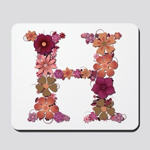 H Pink Flowers Mousepad