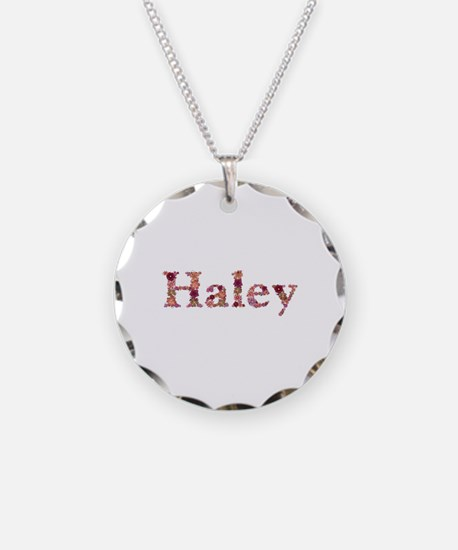 Haley Pink Flowers Necklace