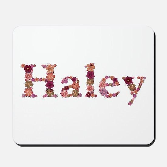 Haley Pink Flowers Mousepad
