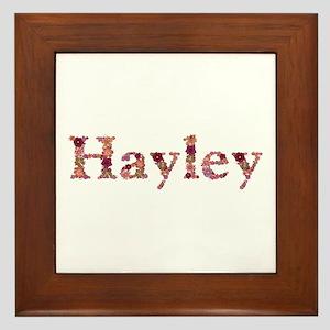 Hayley Pink Flowers Framed Tile