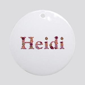 Heidi Pink Flowers Round Ornament