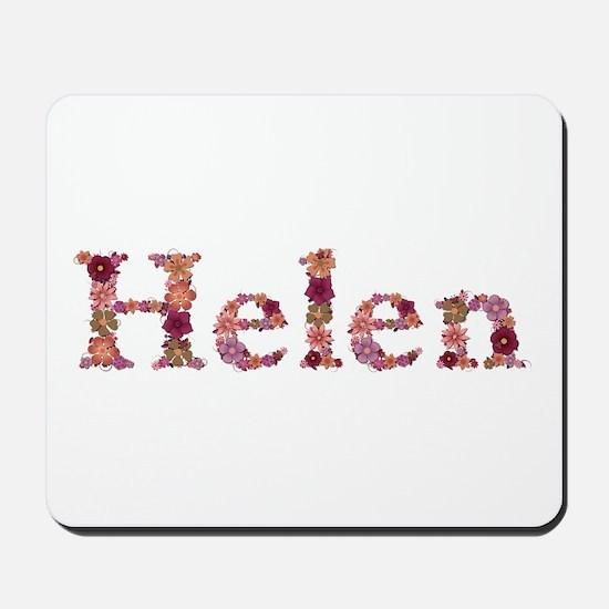 Helen Pink Flowers Mousepad