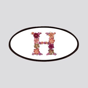 H Pink Flowers Patch