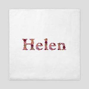 Helen Pink Flowers Queen Duvet