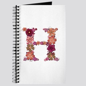 H Pink Flowers Journal