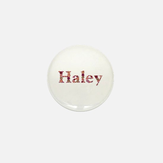 Haley Pink Flowers Mini Button